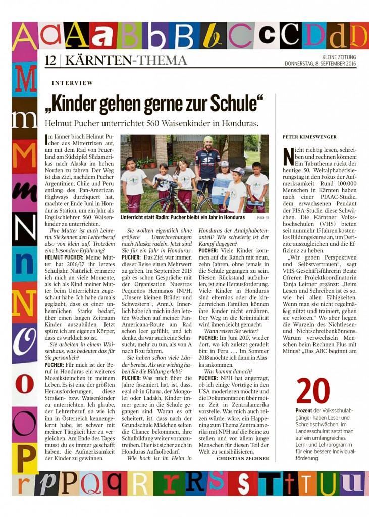 Kleine Zeitung Weltalphabetisierungstag